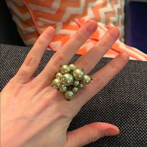 J Crew Faux Pearl Bauble Ring - Size 8